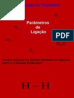 Parametros das ligações química