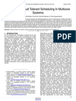 A Review of Fault Tolerant Scheduling in Multicore Systems