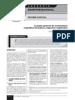 6. La Junta General de Accionistas Requisitos Formales y Aspectos Registrales. Empresarial 1ra Octubre de 2013