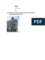 Analisa Laporan Keuangan Perusahaan Asuransi
