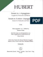 Schubert Arpeggione Sonata Cello Part (Barenreiter)