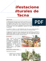 Manifestaciones Culturales de Tacna