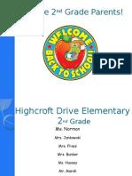 second grade curriculum night
