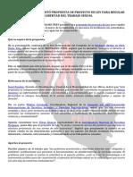 Nota Post Presentación Proyecto Ley Trabajo Sexual Agosto 2015