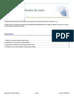 Procédure Horaire Outlook 2015