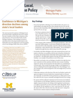 Michigan Public Policy Survey Summer 2015