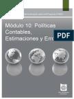 10 Políticas Contables, Estimaciones y Errores