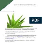 Herbal Medicines to Treat Diabetes Mellitus