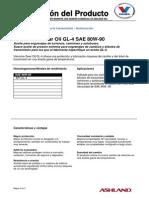 Valvoline Gear Oil GL 4 80W 90 230 03a ES