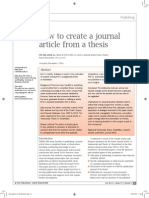 How to Create a Journal Article From a Thesis