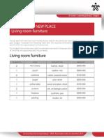 Furniture Budget Form Lina Perdomo