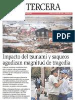 Terremoto en Chile (La Tercera 1-3-2010)