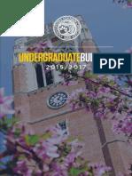Undergraduate Bulletin 2015-2017