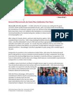 General Microcircuits de Costa Rica Celebrates Five Years