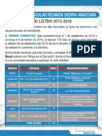 Cronograma Escolar Del Ano Lectivo Sierra 2015 2016