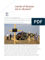 Have Thousands of Russian Soldiers Died in Ukraine