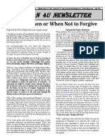 Divining When and When Not to Forgive