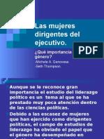Las Mujeres Dirigentes Del Ejecutivo ¿Qué Importancia Tiene El Género Michel a. Genovese y Seth Thompson
