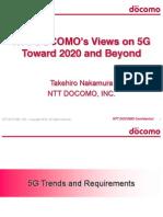 5Gz NTT Docomo Views on 5G Toward 2020 and Beyond Takehiro Nakamura LTEWS June 2014 2