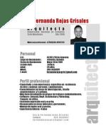CV Arq.maria Fernanda Rojas Grisales