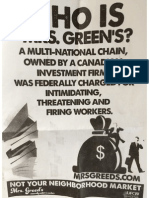 Union Flyer Mrs. Greens