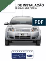 Farol de Milha - Manual de Instalação Original Ford - Ford Novo KA