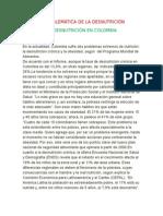 LA DESNUTRICIÓN EN COLOMBIA