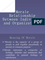 Morale Relationship Between Individual and Organizations