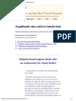 Sepultando Um Cadáver Intelectual-Olavo de Carvalho