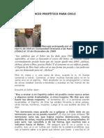 ANUNCIO PROFÉTICO PARA CHILE