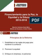 03 10 2014 MinHacienda PL Financiamiento Para Paz Equidad y Educacion (1)