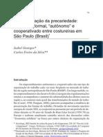 GEORGES 2008 A naturalização da precariedade trabalho informal, autônomo e cooperativado entre costureiras em São Paulo