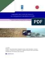Étude Sur l'Estimation Des Coûts Des Impacts Des Changements Climatiques en Haïti