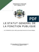 Gabon Statuts General Fonction Publique Gabonaise