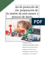 Propuesta de Protocolo de Actuacion Preparacion de La Muerte de Una Menor y Proceso de Duelo.