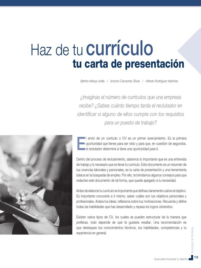 Dorable Qué Es Un Trabajo Resume Carta De Presentación Patrón ...