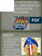 Unidad e Integracion Nacional Como Base de La