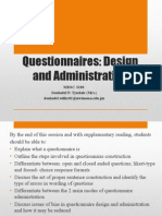 16. Questionnaire Design