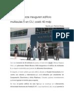 25-08-2015 Ángulo 7 - RMV y Esparza Inauguran Edificio Multiaulas 5 en CU; Costó 40 Mdp