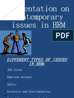 Contemporary Issues of HRM