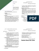 Oración - Santa Rosa de Lima