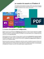 Crear y Gestionar Cuentas de Usuario en Windows 8