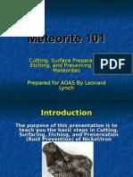 Meteorite 101 Cutting