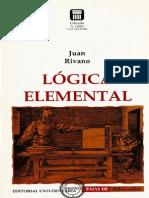 Lógica Elemental. Juan Rivano