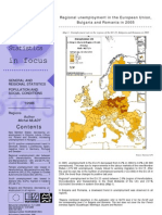 Regional unemployment in the European Union,  Bulgaria and Romania in 2005