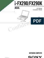 Sony Vaio PCG-FX290 Service Manual