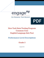 Performance Level Descriptions Grade 3