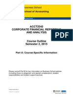 ACCT2542 Corporate Financial Reporting and Analysis S2 2015 Part a (Updated on Page 17)
