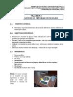 Practica 2. Lab Fluidos - Densidad de Sólidos