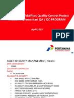Peningkatan Efektifitas Quality Control Project Melalui Implementasi QAQC
